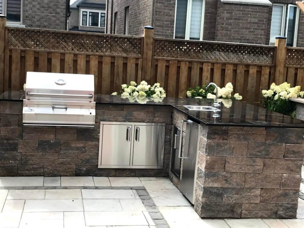 Outdoor Kitchen Installation Service d & b